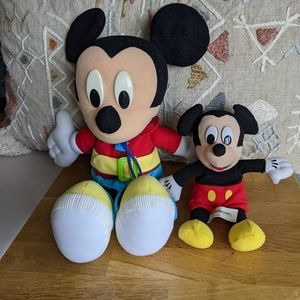 Disney Mickey Mouse Vintage Plush Learn To Dress